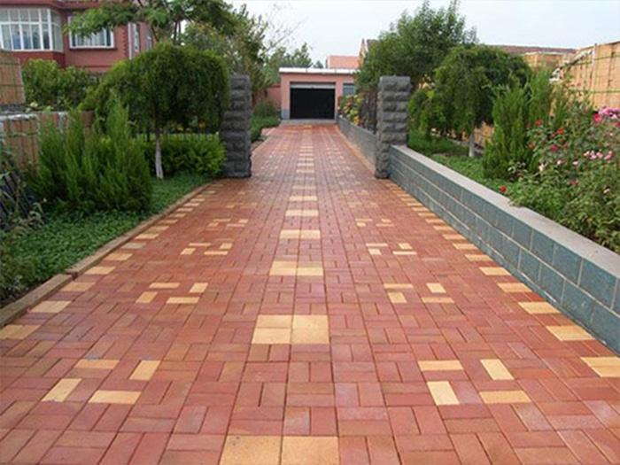 彩砖草坪砖